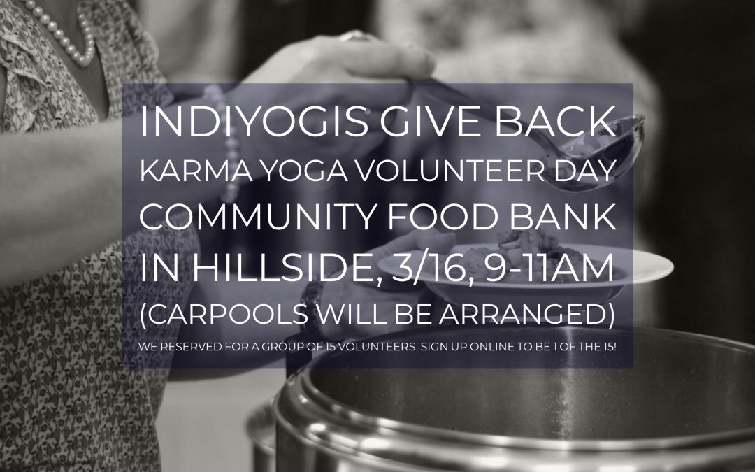 Indiyogis Give Back – Volunteering at Community Food Bank in Hillside