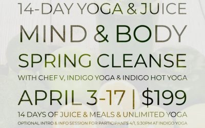 14-Day Yoga & Juice, Mind & Body Spring Cleanse  with Chef V and Indigo Yoga