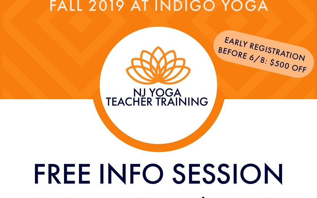 FREE Teacher Training Information Session at Indigo Yoga, 351 Bloomfield Avenue, Caldwell