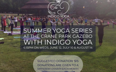 Yoga at the Crane Park Gazebo (donation based) – 2nd Wednesday in June, July and August!!!