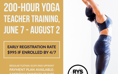 Last Week to Save $300 Online 200 Hour Yoga Teacher Training